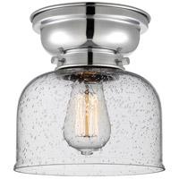 Innovations Lighting 623-1F-PC-G74 Large Bell 1 Light 8 inch Polished Chrome Flush Mount Ceiling Light Aditi