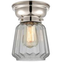 Innovations Lighting 623-1F-PN-G142-LED Chatham LED 6 inch Polished Nickel Flush Mount Ceiling Light, Aditi