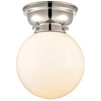 Innovations Lighting 623-1F-PN-G201-8-LED Large Beacon LED 8 inch Polished Nickel Flush Mount Ceiling Light, Aditi