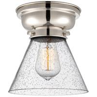 Innovations Lighting 623-1F-PN-G44-LED Large Cone LED 8 inch Polished Nickel Flush Mount Ceiling Light Aditi