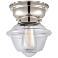 Innovations Lighting 623-1F-PN-G532 Small Oxford 1 Light 8 inch Polished Nickel Flush Mount Ceiling Light, Aditi