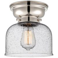 Innovations Lighting 623-1F-PN-G74 Large Bell 1 Light 8 inch Polished Nickel Flush Mount Ceiling Light, Aditi