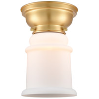 Satin Gold Glass Canton Flush Mounts