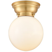 Innovations Lighting 623-1F-SG-G201-8-LED Large Beacon LED 8 inch Satin Gold Flush Mount Ceiling Light, Aditi