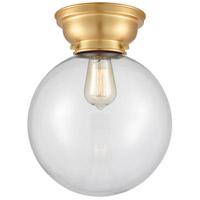 Innovations Lighting 623-1F-SG-G202-10-LED X-Large Beacon LED 10 inch Satin Gold Flush Mount Ceiling Light Aditi