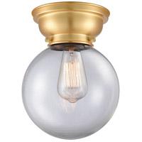 Innovations Lighting 623-1F-SG-G202-8-LED Large Beacon LED 8 inch Satin Gold Flush Mount Ceiling Light, Aditi