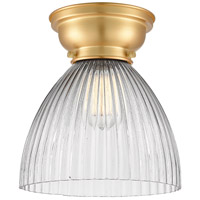 Innovations Lighting 623-1F-SG-G222-LED Seneca Falls LED 10 inch Satin Gold Flush Mount Ceiling Light Aditi