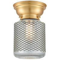 Innovations Lighting 623-1F-SG-G262-LED Stanton LED 6 inch Satin Gold Flush Mount Ceiling Light Aditi