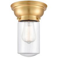 Innovations Lighting 623-1F-SG-G312-LED Dover LED 6 inch Satin Gold Flush Mount Ceiling Light Aditi