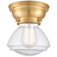 Innovations Lighting 623-1F-SG-G324 Olean 1 Light 7 inch Satin Gold Flush Mount Ceiling Light Aditi