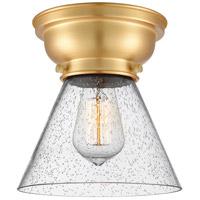 Innovations Lighting 623-1F-SG-G44-LED Large Cone LED 8 inch Satin Gold Flush Mount Ceiling Light Aditi