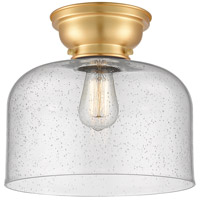 Innovations Lighting 623-1F-SG-G74-L X-Large Bell 1 Light 12 inch Satin Gold Flush Mount Ceiling Light Aditi
