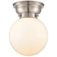 Innovations Lighting 623-1F-SN-G201-8 Large Beacon 1 Light 8 inch Satin Nickel Flush Mount Ceiling Light, Aditi