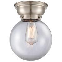 Innovations Lighting 623-1F-SN-G202-8 Large Beacon 1 Light 8 inch Satin Nickel Flush Mount Ceiling Light, Aditi