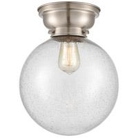 Innovations Lighting 623-1F-SN-G204-10 X-Large Beacon 1 Light 10 inch Satin Nickel Flush Mount Ceiling Light, Aditi