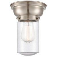 Innovations Lighting 623-1F-SN-G314-LED Aditi Dover LED 6 inch Brushed Satin Nickel Flush Mount Ceiling Light in Seedy Glass, Aditi photo thumbnail