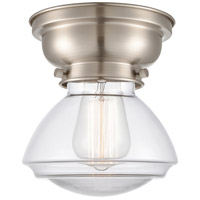 Innovations Lighting 623-1F-SN-G322 Olean 1 Light 7 inch Brushed Satin Nickel Flush Mount Ceiling Light Aditi