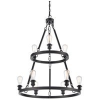 Innovations Lighting 8203-BK Saloon 9 Light 30 inch Matte Black Chandelier Ceiling Light