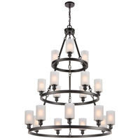 Innovations Lighting 82034-BK-G801-LED Saloon LED 40 inch Matte Black Chandelier Ceiling Light Ballston