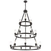 Innovations Lighting 82034-BK-LED Saloon LED 40 inch Matte Black Chandelier Ceiling Light Ballston