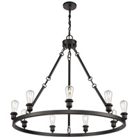 Innovations Lighting 840-BK Saloon 9 Light 40 inch Matte Black Chandelier Ceiling Light
