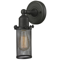 Innovations Lighting 900-1W-OB-CE219-OB-LED Quincy Hall LED 5 inch Oil Rubbed Bronze Sconce Wall Light Austere