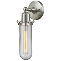 Innovations Lighting 900-1W-SN-CE228-SN-CL-LED Centri LED 5 inch Satin Nickel Sconce Wall Light Austere