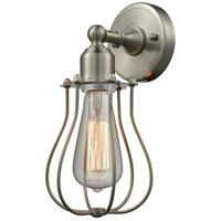 Innovations Lighting 900-1W-SN-CE513-SN Muselet 1 Light 6 inch Satin Nickel Sconce Wall Light Austere