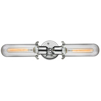 Innovations Lighting 900-2W-PC-CE228-PC-CL Centri 2 Light 22 inch Polished Chrome Bath Vanity Light Wall Light Austere