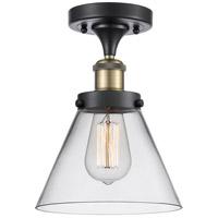 Innovations Lighting 916-1C-BAB-G42-LED Large Cone LED 8 inch Black Antique Brass Semi-Flush Mount Ceiling Light