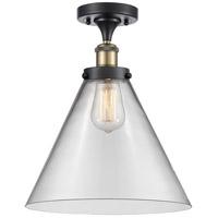 Innovations Lighting 916-1C-BAB-G42-L-LED X-Large Cone LED 8 inch Black Antique Brass Semi-Flush Mount Ceiling Light