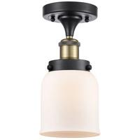 Innovations Lighting 916-1C-BAB-G51-LED Small Bell LED 5 inch Black Antique Brass Semi-Flush Mount Ceiling Light