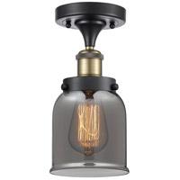 Innovations Lighting 916-1C-BAB-G53-LED Small Bell LED 5 inch Black Antique Brass Semi-Flush Mount Ceiling Light