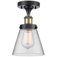 Innovations Lighting 916-1C-BAB-G62-LED Small Cone LED 6 inch Black Antique Brass Semi-Flush Mount Ceiling Light