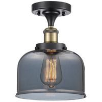 Innovations Lighting 916-1C-BAB-G73-LED Large Bell LED 8 inch Black Antique Brass Semi-Flush Mount Ceiling Light