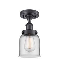 Innovations Lighting 916-1C-BK-G52-LED Small Bell LED 5 inch Matte Black Semi-Flush Mount Ceiling Light Ballston
