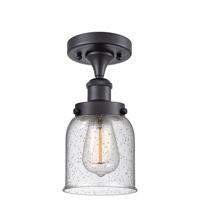 Innovations Lighting 916-1C-BK-G54-LED Small Bell LED 5 inch Matte Black Semi-Flush Mount Ceiling Light Ballston