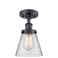 Innovations Lighting 916-1C-BK-G62-LED Small Cone LED 6 inch Matte Black Semi-Flush Mount Ceiling Light Ballston