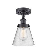 Innovations Lighting 916-1C-BK-G64-LED Small Cone LED 6 inch Matte Black Semi-Flush Mount Ceiling Light Ballston