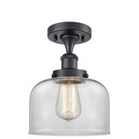 Innovations Lighting 916-1C-BK-G72-LED Large Bell LED 8 inch Matte Black Semi-Flush Mount Ceiling Light Ballston