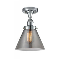Innovations Lighting 916-1C-PC-G43-LED Large Cone LED 8 inch Polished Chrome Semi-Flush Mount Ceiling Light Ballston