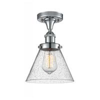 Innovations Lighting 916-1C-PC-G44-LED Large Cone LED 8 inch Polished Chrome Semi-Flush Mount Ceiling Light Ballston