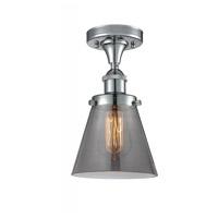 Innovations Lighting 916-1C-PC-G63-LED Small Cone LED 6 inch Polished Chrome Semi-Flush Mount Ceiling Light Ballston