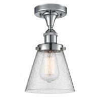 Innovations Lighting 916-1C-PC-G64-LED Small Cone LED 6 inch Polished Chrome Semi-Flush Mount Ceiling Light Ballston