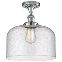 Innovations Lighting 916-1C-WPC-G74-L-LED X-Large Bell LED 8 inch White and Polished Chrome Semi-Flush Mount Ceiling Light