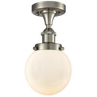 Innovations Lighting 916-1C-SN-G201-6-LED Beacon LED 6 inch Satin Nickel Flush Mount Ceiling Light Ballston