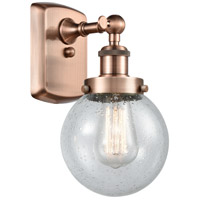Innovations Lighting 916-1W-AC-G204-6-LED Beacon LED 6 inch Antique Copper Sconce Wall Light
