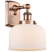 Innovations Lighting 916-1W-AC-G71 Large Bell 1 Light 8 inch Antique Copper Sconce Wall Light
