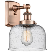 Innovations Lighting 916-1W-AC-G74 Large Bell 1 Light 8 inch Antique Copper Sconce Wall Light
