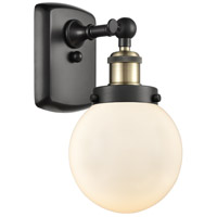 Innovations Lighting 916-1W-BAB-G201-6-LED Beacon LED 6 inch Black Antique Brass Sconce Wall Light